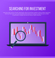 searching for investment vector image vector image