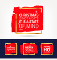 set 100 black ink christmas and happy new year vector image
