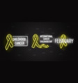 set of childhood cancer vector image
