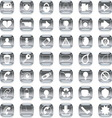 silver icons 3 vector image vector image