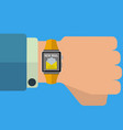 smart watch e-mail business application concept vector image vector image