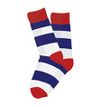 Striped socks vector image