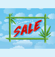 summer sale poster for retail vector image vector image