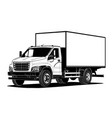 truck outline template isolated on white vector image vector image