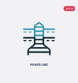 two color power line icon from industry concept vector image vector image