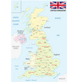 united kingdom administrative and political map vector image