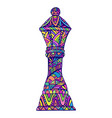 vivid queen chess piece with many decorative vector image vector image