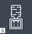 water cooler line icon vector image vector image