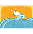 wave in ocean vector image vector image