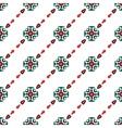 White retro pattern vector image