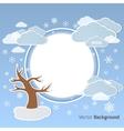 Winter round background vector image