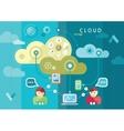 Cloud computing internet concept vector image