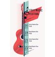 Folk Music Festival Banner Template vector image