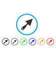 trowel rounded icon vector image