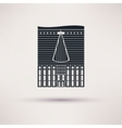 Inn building Icon in the flat style vector image