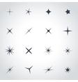 black sparkles icon set vector image