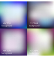 Abstract colorful blurred smooth backgrounds vector image vector image