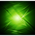 Abstract green wavy design vector image vector image