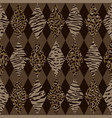 animal brown and beige geometric seamless pattern vector image vector image