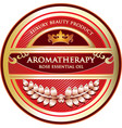 aromatherapy rose essential oil vector image
