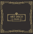 art deco border and frame template design vector image vector image