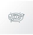 astronomy icon line symbol premium quality vector image