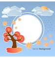 Autumn round background vector image vector image