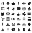 bakery icons set simple style vector image