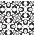 baroque black and white seamless pattern vector image