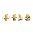 beer glass with foam and ears of wheat vector image