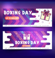 boxing banner vector image vector image