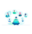 business communication - flat design style vector image vector image