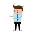 character businessman and office worker pose vector image