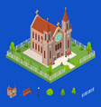 christian catholic church and elements concept 3d vector image vector image