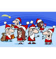 christmas santa clauses cartoon vector image vector image
