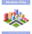 colorful 3d isometric city vector image vector image
