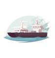 container ship in ocean vector image vector image