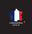 coronavirus in france and country flag inside vector image vector image