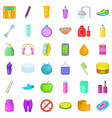 cosmetic salon icons set cartoon style vector image vector image