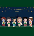 cute flat style thai kid in traditional dress loy vector image vector image