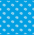 dive mask pattern seamless blue vector image vector image