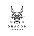 dragon monoline logo icon vector image