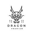 dragon monoline logo icon vector image vector image