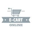 e cart logo simple gray style vector image vector image