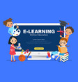 e-learning online education concept group vector image
