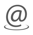 email address icon simple vector image
