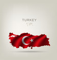 flag turkey as a country vector image