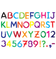 Font Alphabet vector image vector image