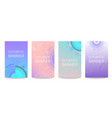 futuristic circles set of banners vector image vector image