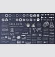 Futuristic user interface set hud ui ux